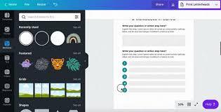 Canva Worksheets Online
